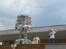 Lampa od reciklaznog materijala-Bor